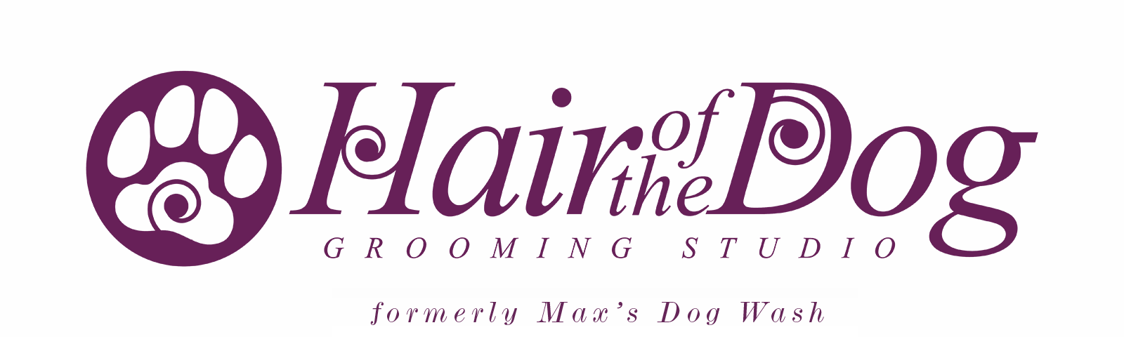 Hair of the Dog Grooming Salon Header Logo